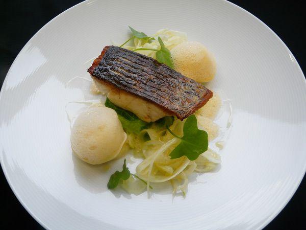 Pistachio Sea Bass With Crab Salad Recipe — Dishmaps