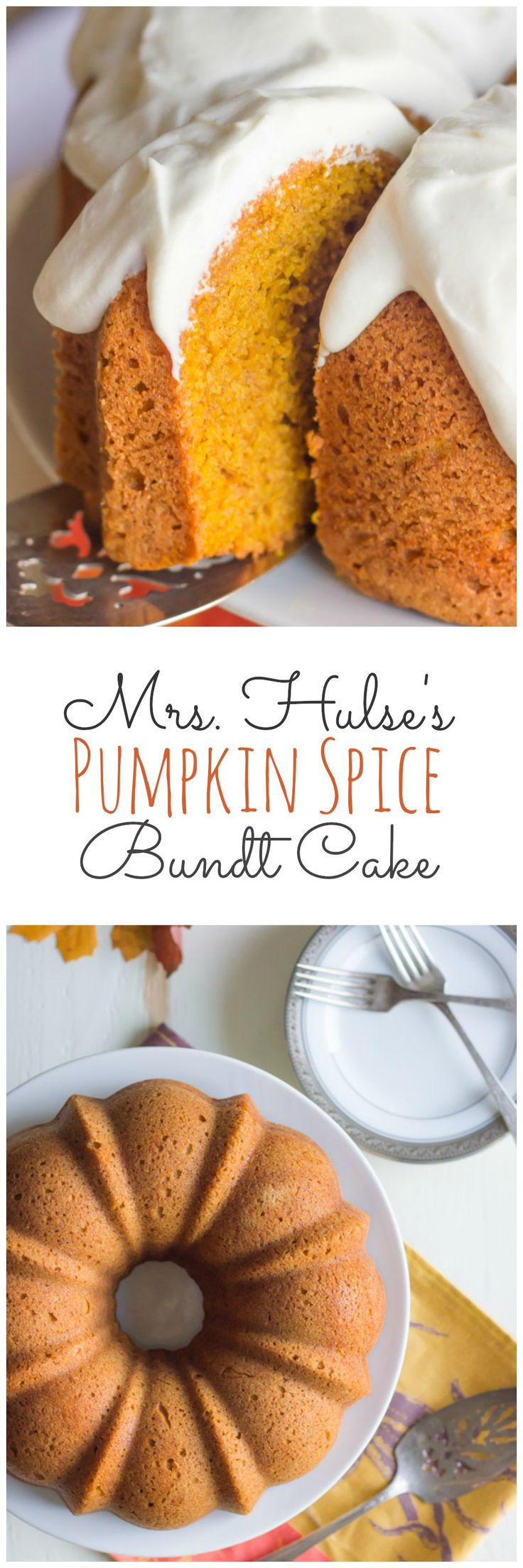 Mrs. Hulse's Pumpkin Spice Bundt Cake. #autumn #Halloween #Thanksgiving