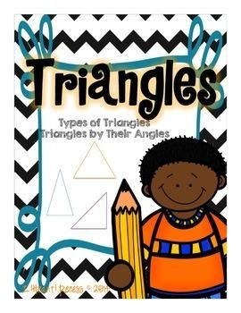 TRIANGLES: TYPES OF TRIANGLES & TRIANGLES BY THEIR ANGLES | by Jessica Scott | $3.00