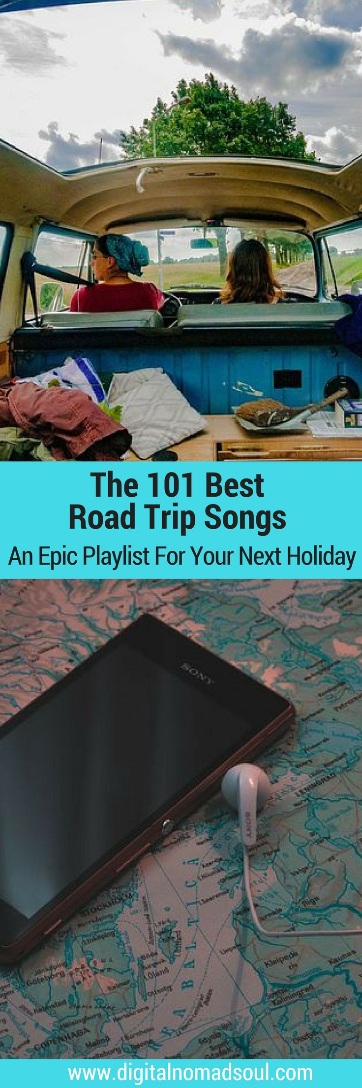 Check out this incredible list with the greatest road trip songs of all times. An epic playlist for your next vacation!