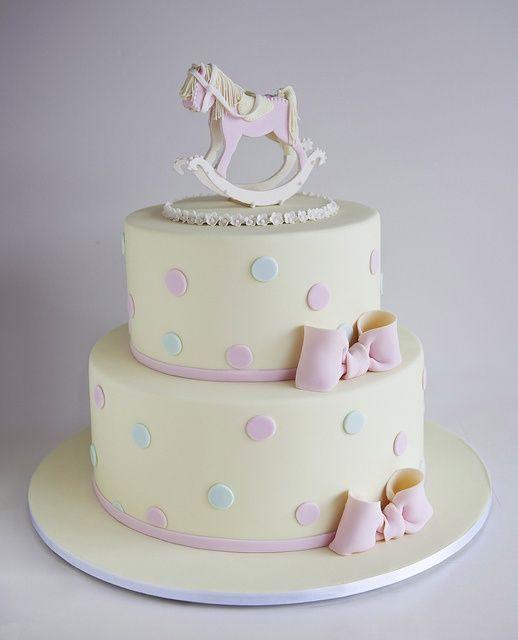 sweet tiers - christening - christening cake - rocking horse cake  #Vintage #Fashion #2014 #Spring
