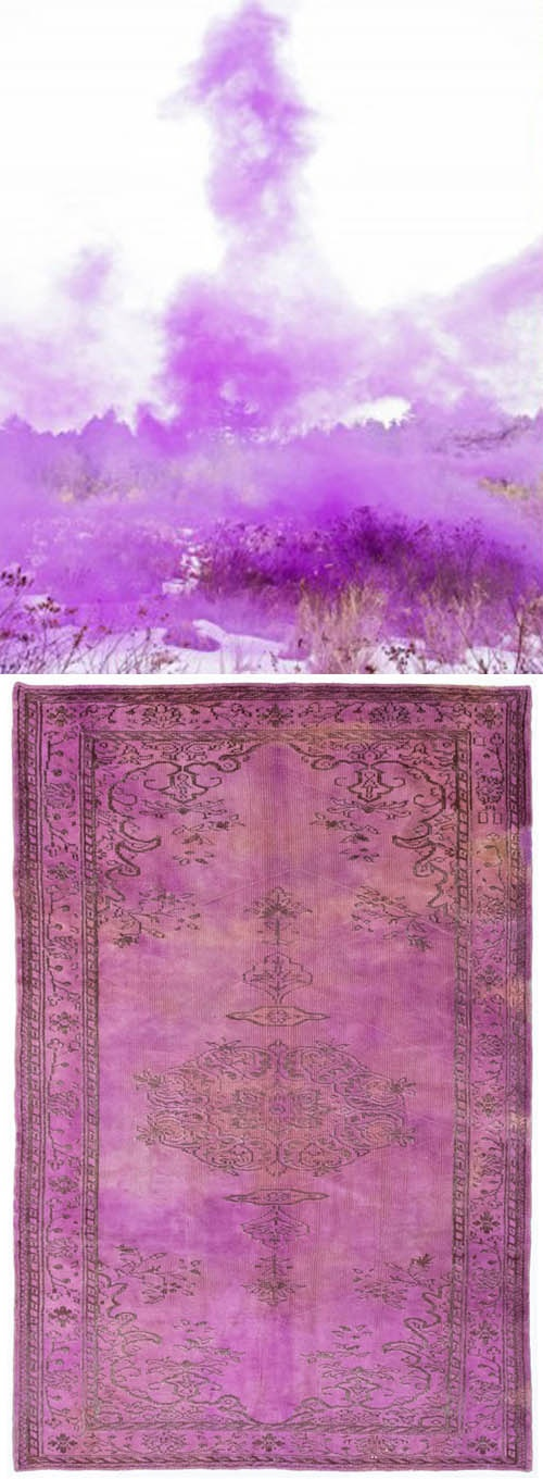 Original and lovely dyed rugs--ABC Carpet & Home