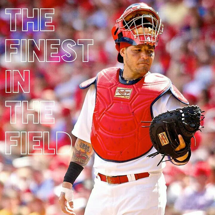 Congrats Molina on receiving the Platinum Glove Award! This is Yadi's 3rd win in the 4 year history of the award!