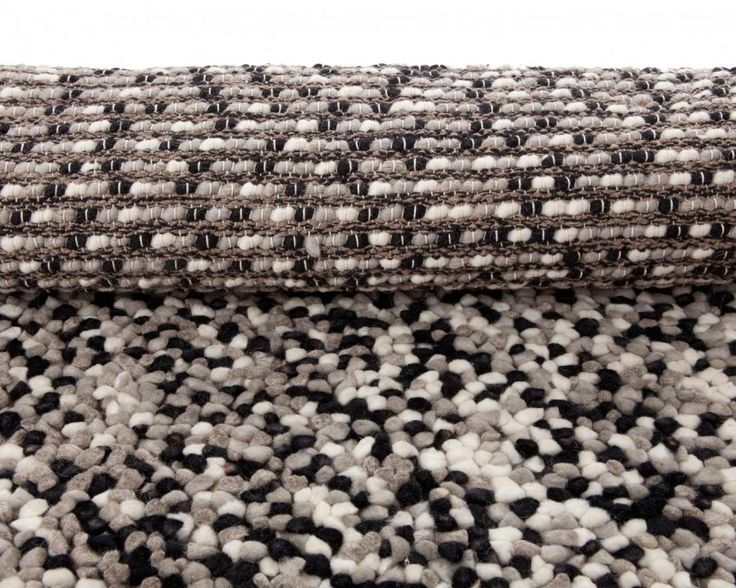 White Grey Black Felted Wool Carpets Handmade High Quality and Custom-Made in All Sizes