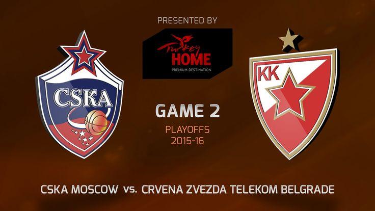 Highlights: CSKA Moscow-Crvena Zvezda Telekom Belgrade, Game-2