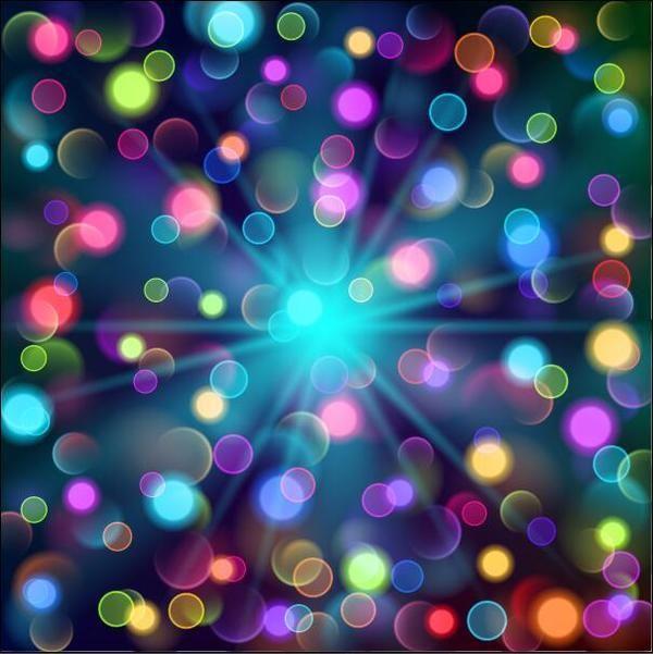 Vettori Di Sfondo Di Cerchi Di Luce Colorata Cerchi Colorati Luce Vectors Circle Light Vector Background