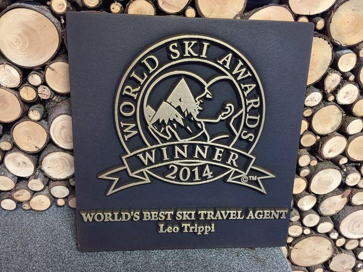 Our 'Winners' plaque has arrived!! 'World's Best Ski Travel Agent 2014' at the 'World Ski Awards' #WSA #worldskiawards #leowines #leotrippi #ski #skiing #travelagent #travelagent #luxe_travel #luxurytravel #nofilter #award
