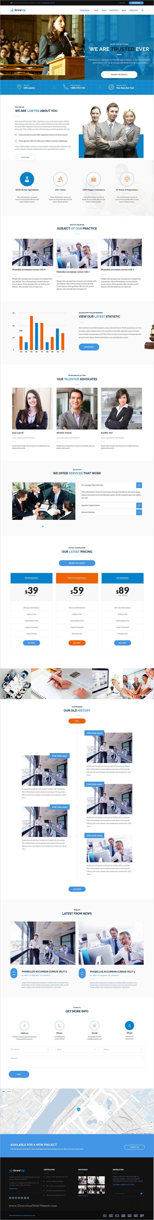 GrowUp is a modern design 6in1 professional #WordPress theme for #law #firm and business, financial websites download now➩ https://themeforest.net/item/growup-business-financial-wordpress-theme/18761663?ref=Datasata