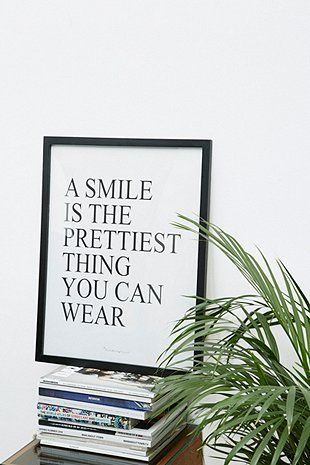 A Smile is the Prettiest Wall Art - Urban Outfitters