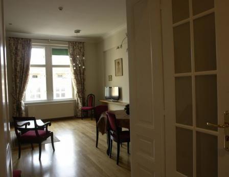 Un grand appartement d'une chambre, récemment rénové. Situé au troisième étage (avec ascenseur) sur Michałowskiego Street, approximatly 500 m de la place principale, à 300m du parc de Planty