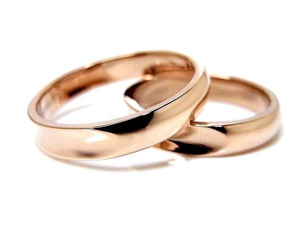 AMBRACE K18 pink gold ring stylish reverse round 4mm ピンクゴールド ペアリング スタイリッシュ リバースラウンド