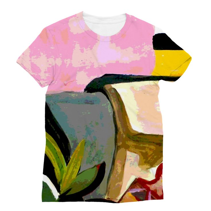 Pink Artsy T-Shirt https://blooom-store.myshopify.com/products/sublimation-t-shirt-3