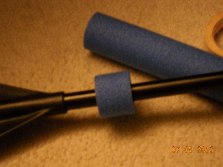 diy canoe paddle | Picture of DIY kayak paddle drip rings