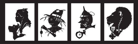 Wizard of Oz hand-cut paper от ChNNLampshade на Etsy