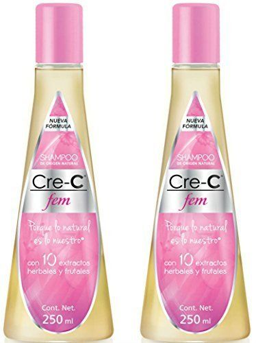 Introducing Shampoo CreC Fem 846 Ounce Pack of 2  Official New Formulated Champu CreC Fem with Ingredients Including Ginseng  Official Crece Fem Hair Growth Stimulating Shampoo for Women  AntiHair Loss Shampoo  For Hair Loss Scalp Treatment and Dandruff Relief. Get Your Ladies Products Here and follow us for more updates!
