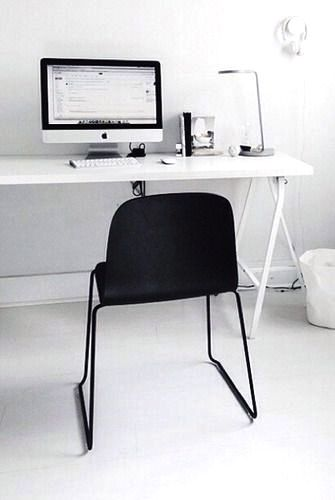 Via Silver Blonde | Home Office | HAY Chair | Black and White