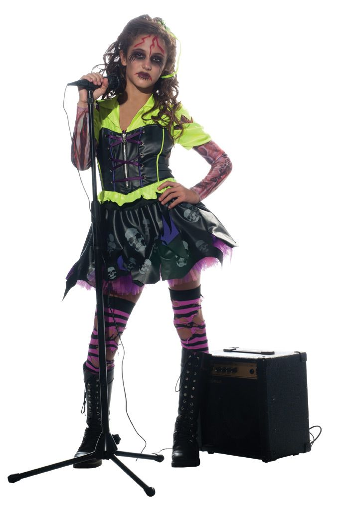 girl zombie punk rocker 3 costume large check out the image by visiting the link - Halloween Punk Costume