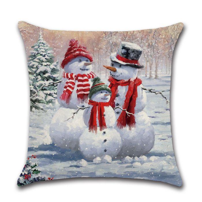 Christmas pillow cover Snowman pillow