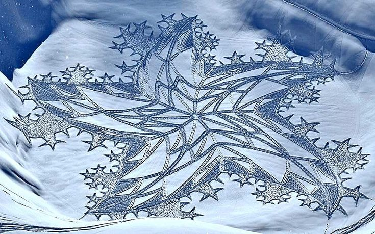 Simon Beck Creates Beautiful Snow Art Using Just His Feet
