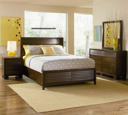 Kamar Set minimalis kayu jati
