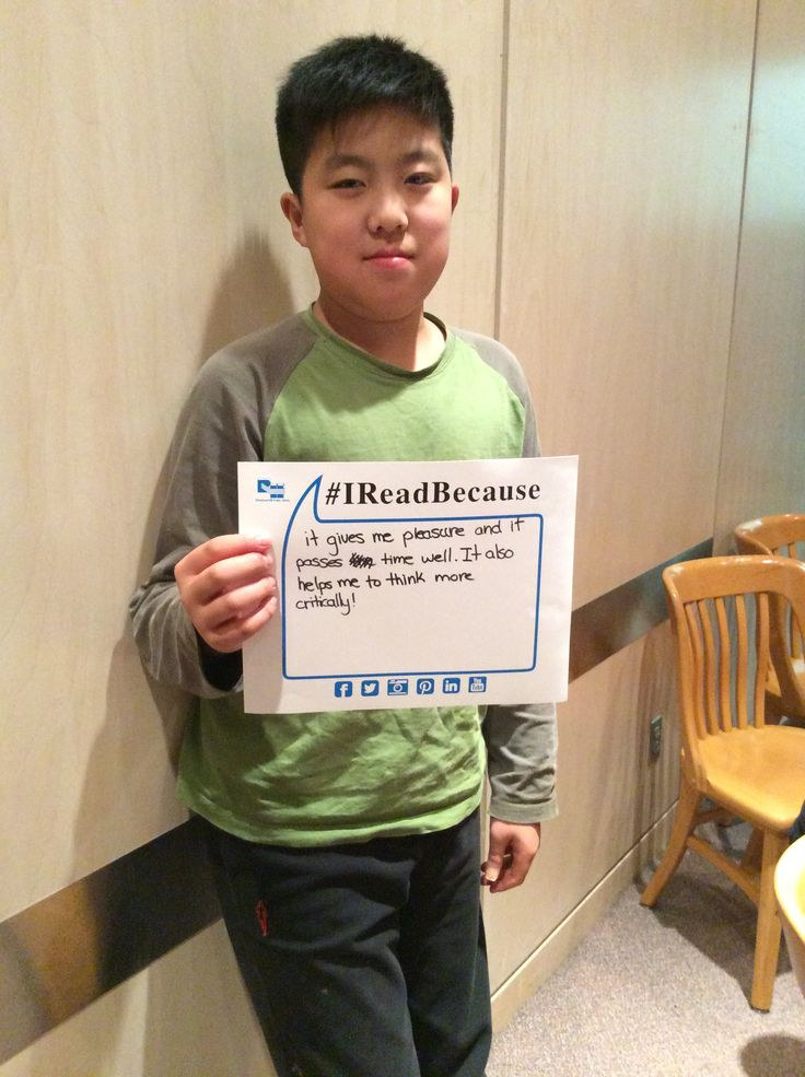 Thomas, a member of the Grade 7/8 Book Club tells us why he reads.