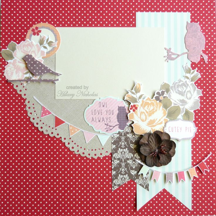 Kaisercraft Sweet Pea created by Hilary Nicholas