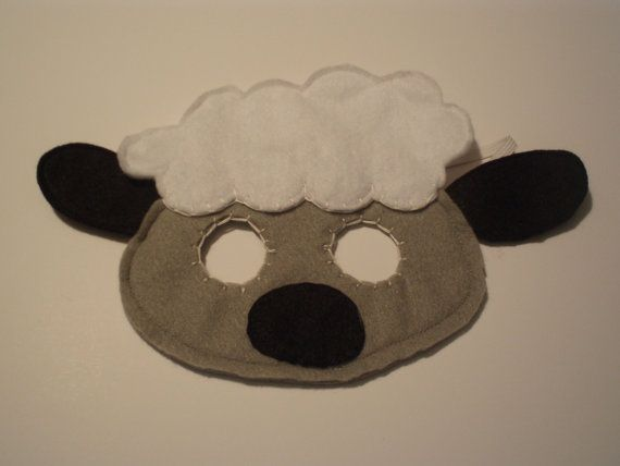 Sheep Felt Animal Mask - perfect for pretend play for children