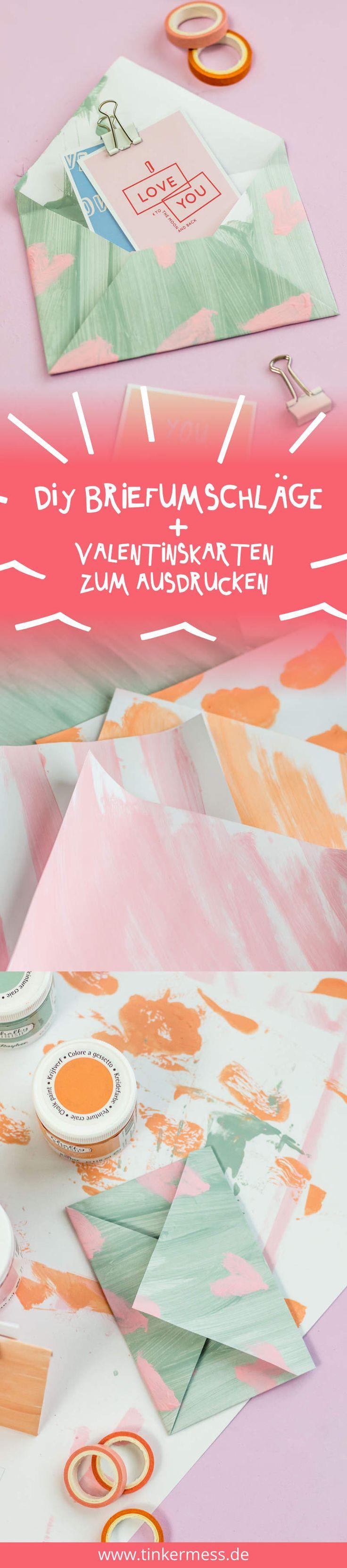 Ich zeige euch, wie ihr einen Valentinstag Briefumschlag ganz einfach falten und bemalen könnt. Außerdem gibt es heute Printables für eine Valentinstag Karte. Diese könnt ihr als Grußkarte oder Valentinskarte ausdrucken oder sogar als Wallpaper verwenden.
