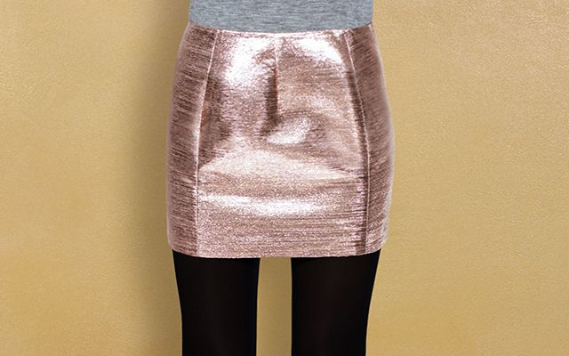 Una gonna anni '60 in lamé rosa dorato, per un look scintillante! #skirt