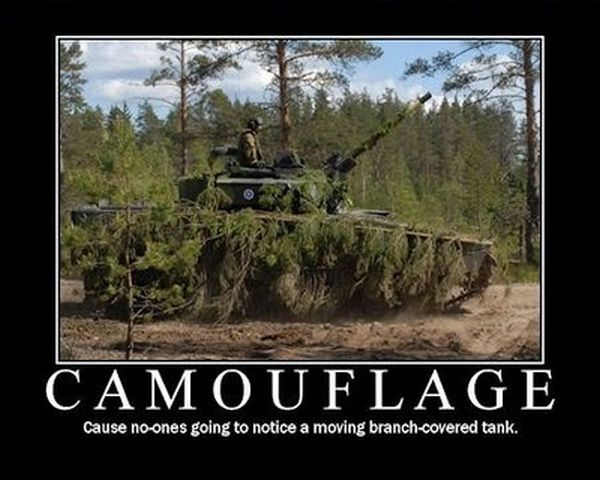 military humor pictures | military-humor-funny-joke-soldier-army--camouflage-branch-covered-tank