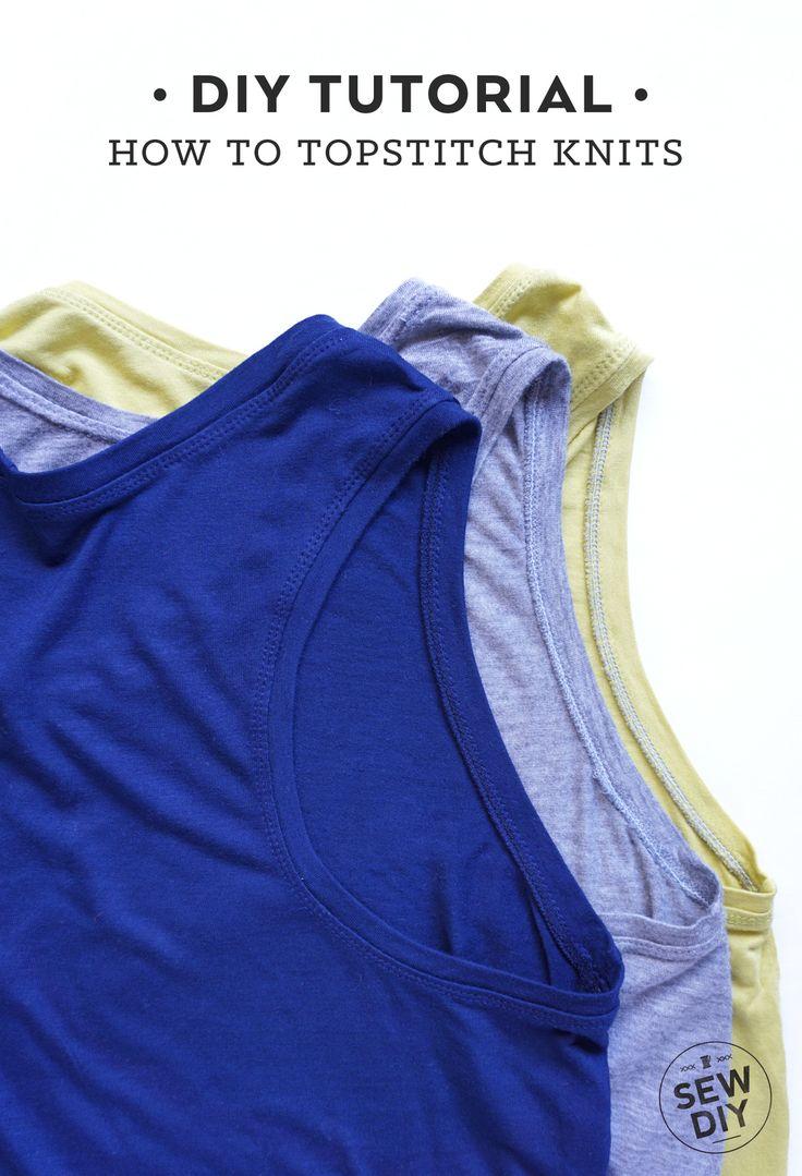 How to Topstitch Knit Fabric | Sew DIY (scheduled via http://www.tailwindapp.com?utm_source=pinterest&utm_medium=twpin&utm_content=post102992491&utm_campaign=scheduler_attribution)