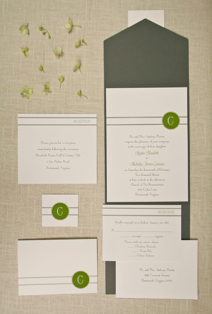 Pocket Wedding Invitations By Note Worthy Stationery U0026 Gifts