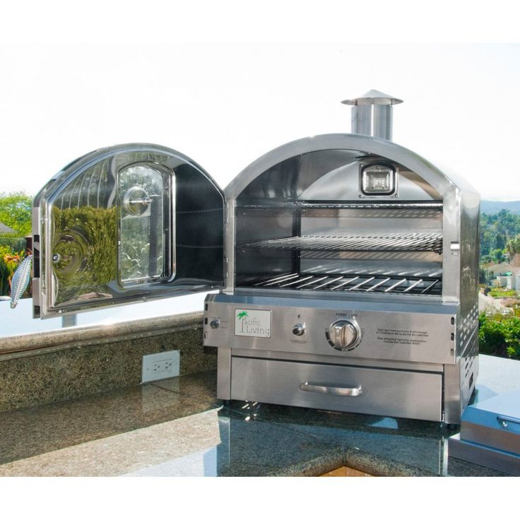 Pacific Living Outdoor Built-In Gas Oven - Outdoor Pizza Ovens at Hayneedle