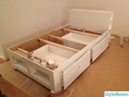 Säng med förvaringslådor - Ett inredningsalbum på StyleRoom