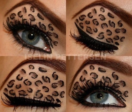Leopard makeup art
