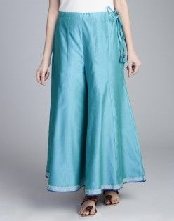 Silk Cotton Embroidered Sharara