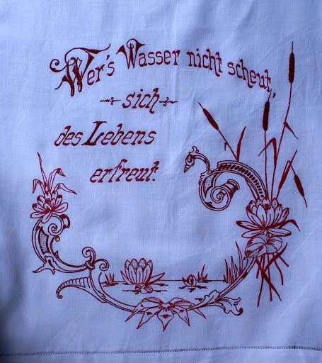 Vintage embroidery - Brigitte