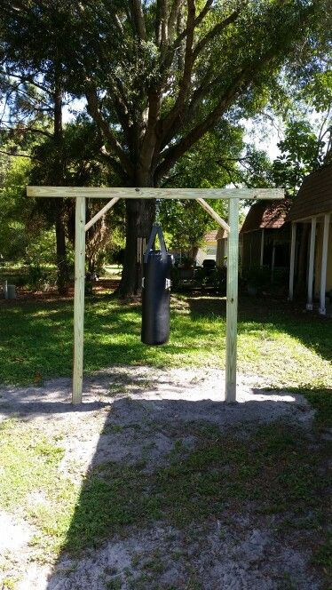 Heavy bag stand..