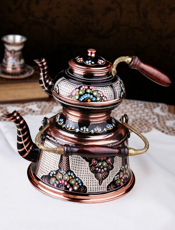Hediyelik Özel El İşlemeli Nostaljik Bakır Çaydanlık : Hediyelik Bakır Çaydanlık ve Semaverler - Duvar Saati | Masa Saati | Kol Saati | Fiyatları ve Modelleri
