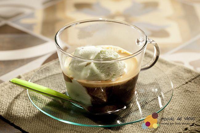 Afogatto de café e sorvete