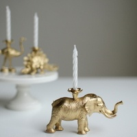 DIY animal candle holders. Too cute!