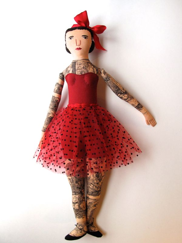 Mimi Kirchner's Red Lady. - Some day I will get one of her tattooed lady dolls.