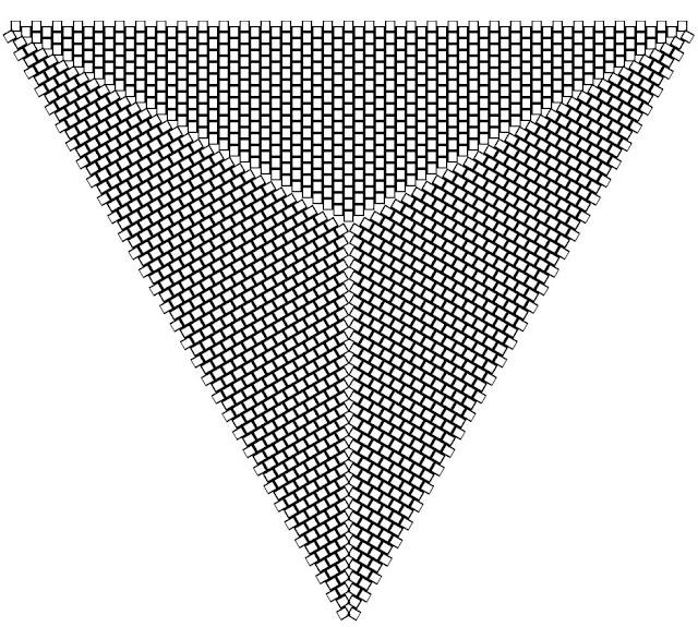 flat triangular peyote graph paper