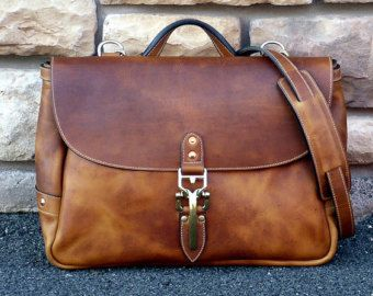 Soho 16 Mailbag Brown Horween Dublin by NormCahnLeatherworks
