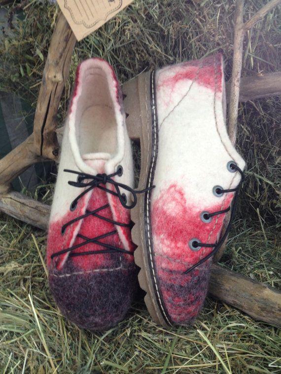 Felted wool shoes.Organic-eco-women by FeltingBottega on Etsy