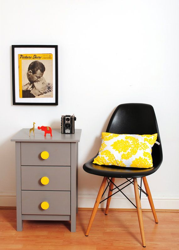 Via Etsy | Grey and yellow | Midcentury