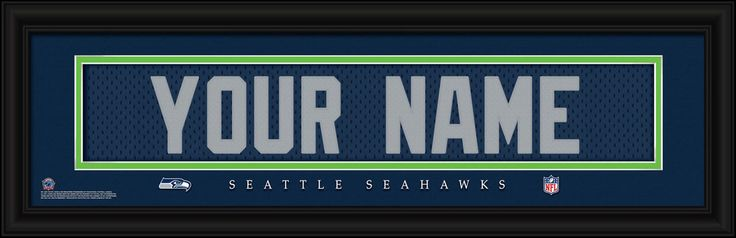 Check out these Seattle Seahawks Pictures featuring Your Name embroidered on an NFL jersey just like the real thing!