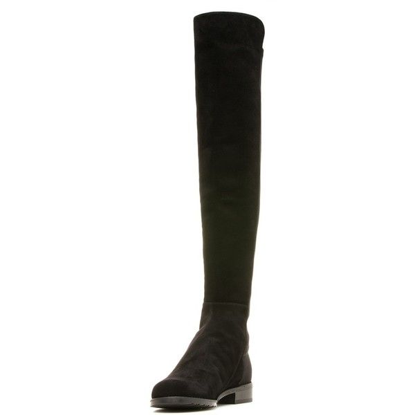Stuart Weitzman THE 5050 BOOT ($655) ❤ liked on Polyvore featuring shoes, boots, over-the-knee boots, stretchy boots, stretch boots, above-knee boots, over the knee boots and stretch over the knee boots