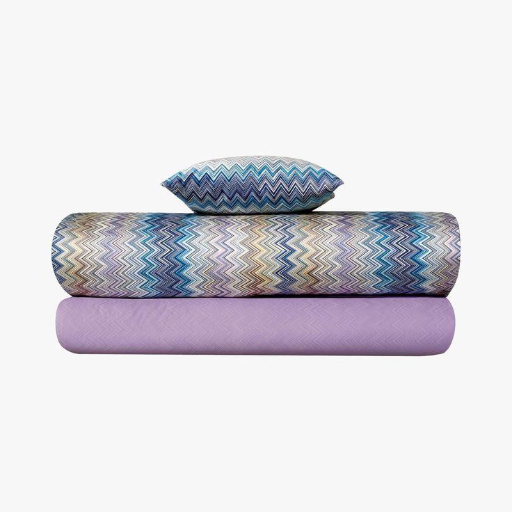 John, Housse de couette, Violet - MISSONI HOME - Find this product on Bon March� website - Le Bon March� Rive Gauche