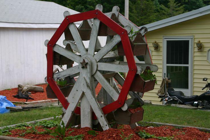 Hand Made Ferris Wheel Garden Planter Rome Pennsylvania